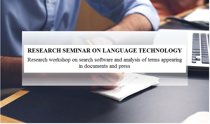 RESEARCH SEMINAR ON LANGUAGE TECHNOLOGY