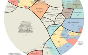 The most spoken languages in the world from a graphic perspective